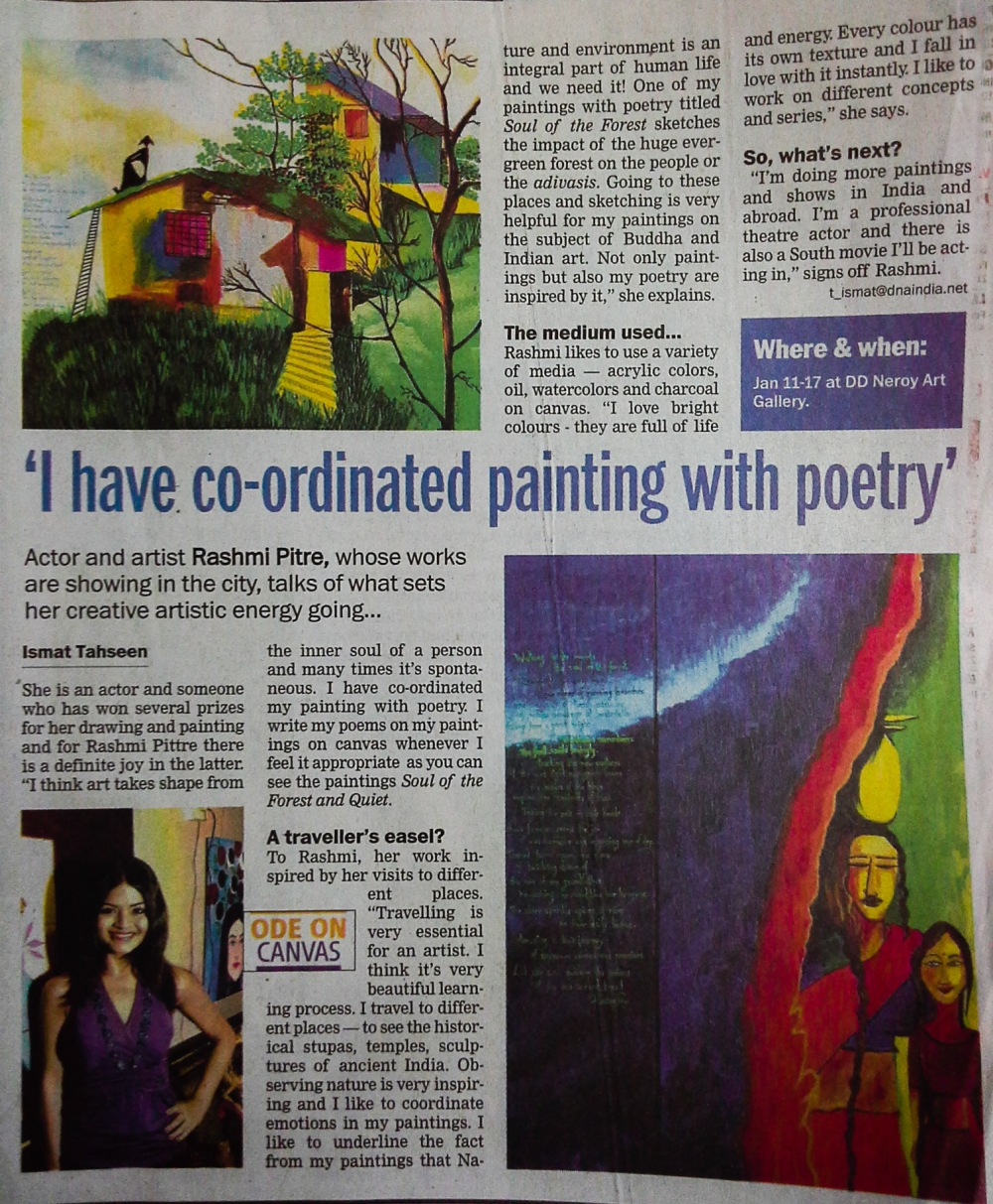 An interview in DNA during the exhibition._