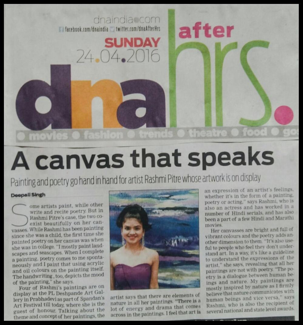 DNA Interview Rashmi Pitre
