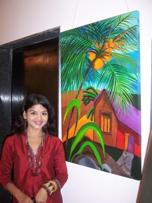 rashmi wth her ppainting